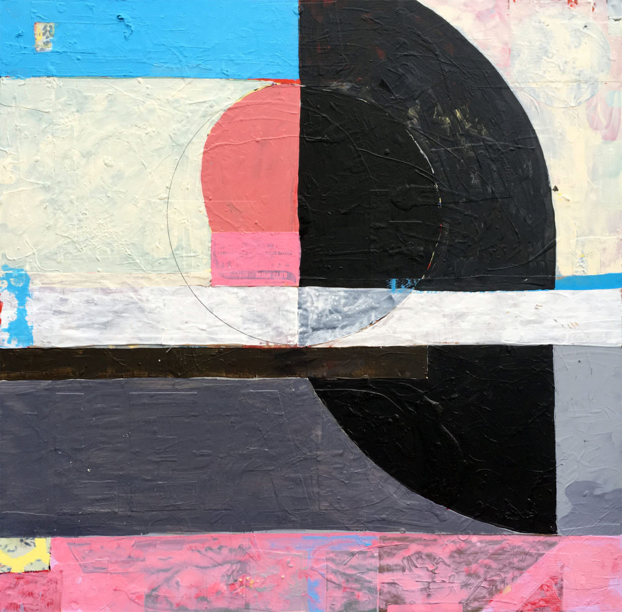 Tim Thayer painting paint on panel with texture