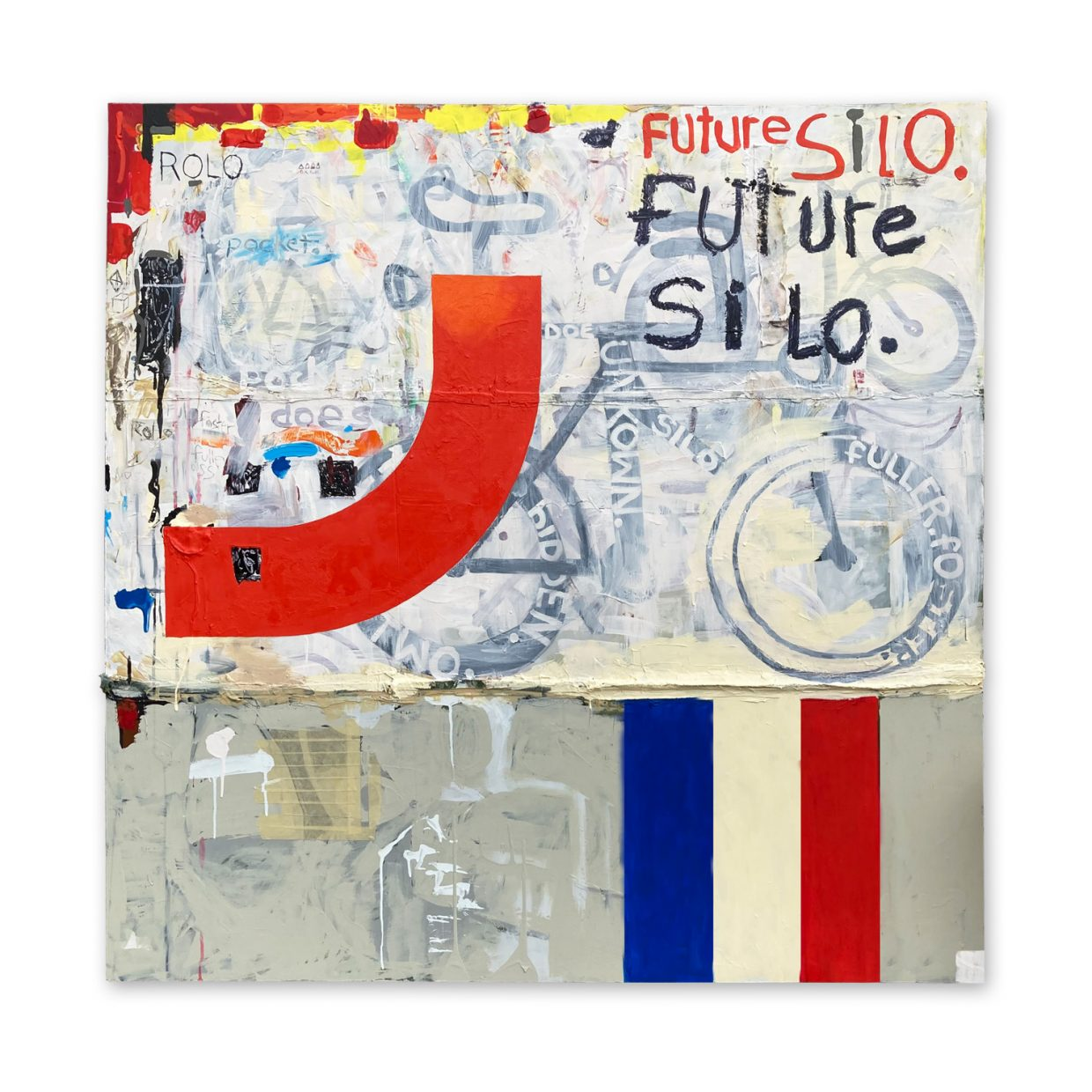 Future Silo - painting by Tim Thayer